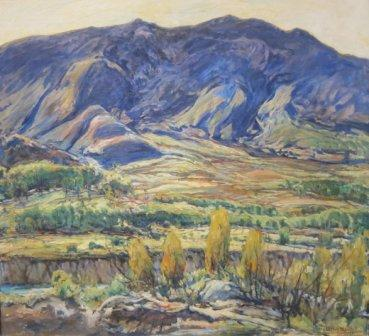 In the San Felipe Valley painted by Charles Reiffel, photographed by Wm Pearl