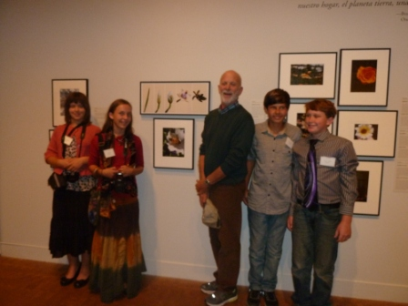 Julian Students with Jeff Holt at MOPA Youth Exhibition-Photo by Colleen Bradley