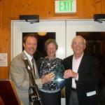 Dr. Cliff & Carolyn Colwell accept 2015 Guardian Award from VMF VP Greg Schuett