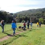 Hikers on Santa Ysabel Preserve East by Jeff Holt