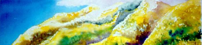Painting of Volcan Mountain by Sally Snipes