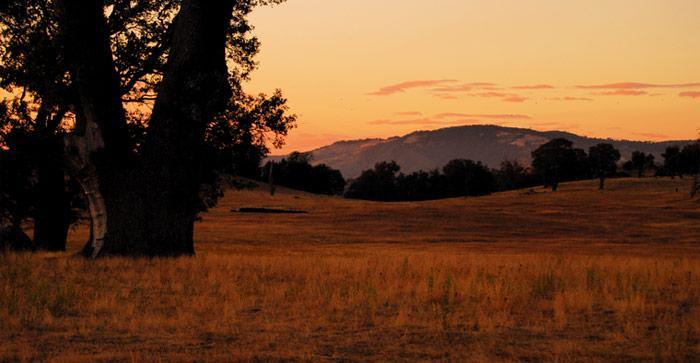 Volcan Mountaint Plains Sunset